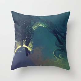 The Fox who talked the Moon and the Stars Throw Pillow