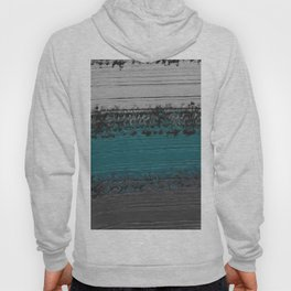 Teal and Gray Abstract Hoody