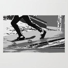 The Push-off  - Skateboarder Rug