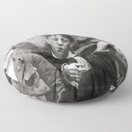 Newsies Boys Smoking Lewis Hine 1910 Floor Pillow