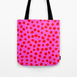 Keep me Wild Animal Print - Pink with Red Spots Tote Bag