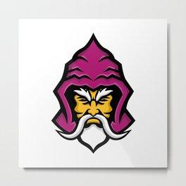 Wizard Head Front Mascot Metal Print