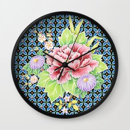 Brocade Bouquet Wall Clock