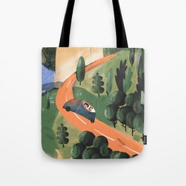 Road Trip in Tuscany Countryside Tote Bag