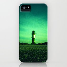 GREEN LIGHTHOUSE iPhone Case
