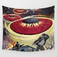 ufo Wall Tapestries featuring UFO by Keka Delso
