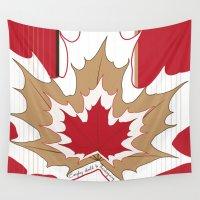 canada Wall Tapestries featuring O' Canada by Azabella Rose Adamora