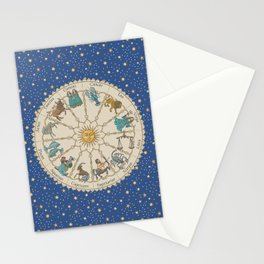 Vintage Astrology Zodiac Wheel Stationery Cards