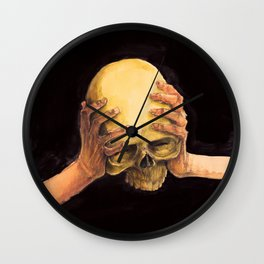 Head on Hands Wall Clock