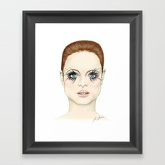 Blue Eyed Girl - Coloured Framed Art Print
