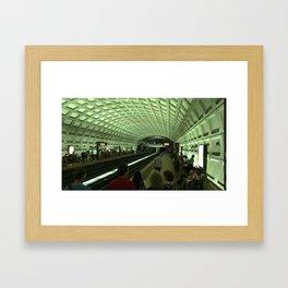 DC train Framed Art Print