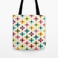 daisies Tote Bags featuring Daisies by Michelle Nilson