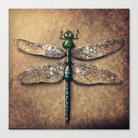 dragonfly Canvas Prints featuring Dragonfly  by Werk of Art
