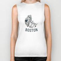 boston Biker Tanks featuring Boston by Sophie Calhoun