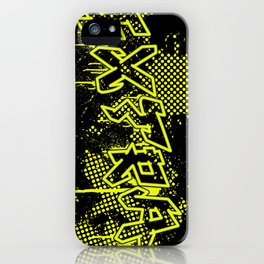 extra splash black and yellow grafitti design iPhone Case