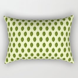 Hops Light Yellow Pattern Rectangular Pillow