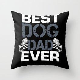 dog Papa Throw Pillow