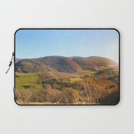 Panoramic of french hilly landscape in autumn season under sunlight Laptop Sleeve