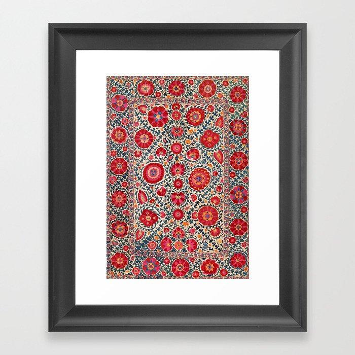 Kermina Suzani Uzbekistan Embroidery Print Gerahmter Kunstdruck