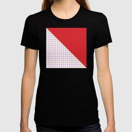 Geometrics in Red and Purple T-shirt