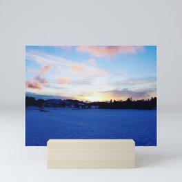 Snowy Sunset Art Photography Mini Art Print