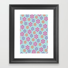 Snowflake Pattern in Jewel Tones Framed Art Print