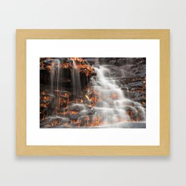 Shades of Death Waterfall Framed Art Print