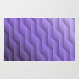 Gradient Purple Diamonds Geometric Shapes Rug