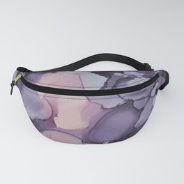 Violet Lilac Blush Decorative Abstract painting 9-2, Colour Symphony watercolor abstraction, Fanny Pack