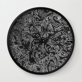White/Black #3 Wall Clock