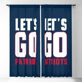 Let's go patriots, New England Blackout Curtain