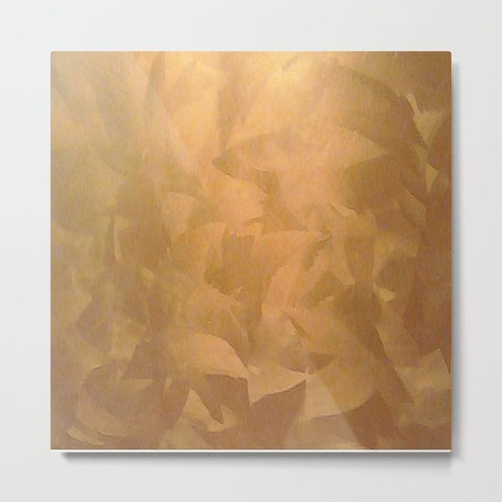 Brushed Copper Metallic - Beautiful - Rustic Glam - Fancy Faux Finishes - Unique Metal Print