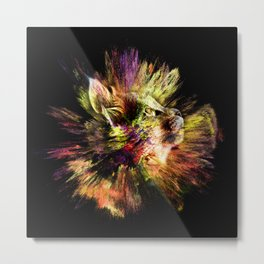 Kitty Supernova Metal Print