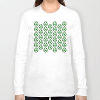 yoshi Long Sleeve T-shirts featuring Yoshi Eggs by Rebekhaart