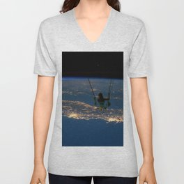 """""""Big Swing Thing"""" by Barry Lee Unisex V-Neck"""