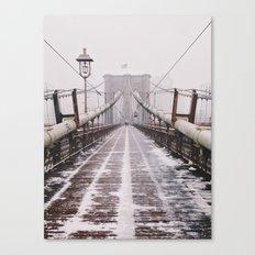 Snowy Brooklyn Bridge Canvas Print