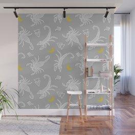Scorpio Moon on Grey Wall Mural