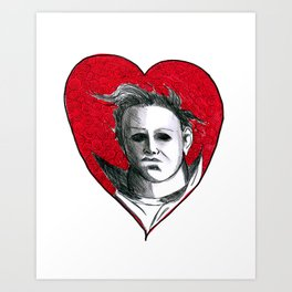 Micheal Myers (All Heart) Art Print