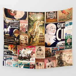 Circus Collage Wall Tapestry