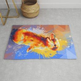 Colors of Fluff - Bunny portrait Rug