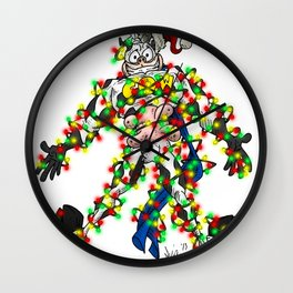 Cowman Christmas Wall Clock
