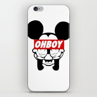 mickey iPhone & iPod Skins featuring mickey by WanderlustHipster