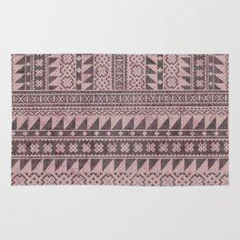 triangle kilim in pale pink Rug