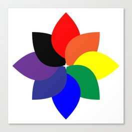 ROYGBIV +1 // Rainbow Flower Canvas Print