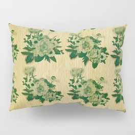Green rustic floral pattern Pillow Sham