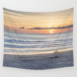 Watching the Sun Go Down Wall Tapestry