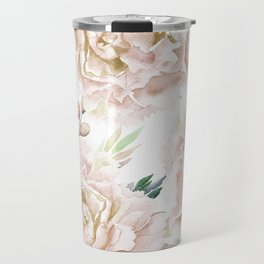 Pretty Blush Pink Roses Flower Garden Travel Mug