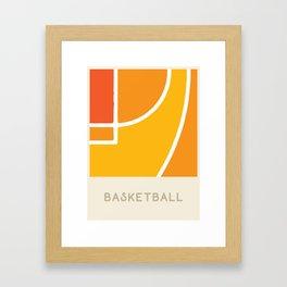 Basketball (Sports Surfaces Series, No. 6) Framed Art Print
