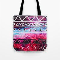 aztec Tote Bags featuring AZTEC by UDIN