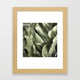 Curvey Leafy Framed Art Print